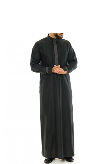 Black Retro Thobe | Jubba