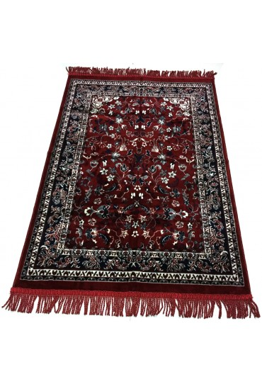 Haramain Inspired  Prayer Mat / Rug Carpet Red Makki Large