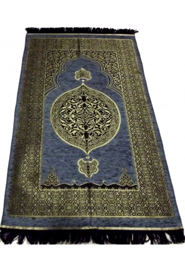Metalic Prayer Mat; Blue