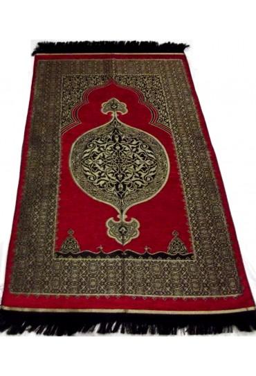 Metalic Prayer Mat; Red