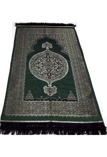 Metalic Prayer Mat; Green