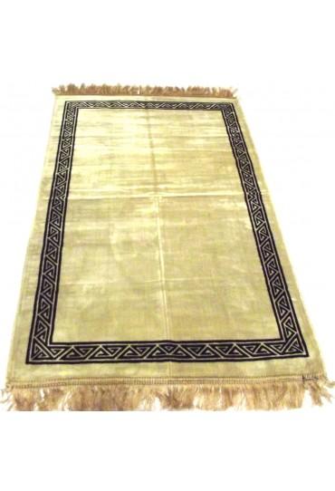 Plain Prayer Mat with Border; Cream