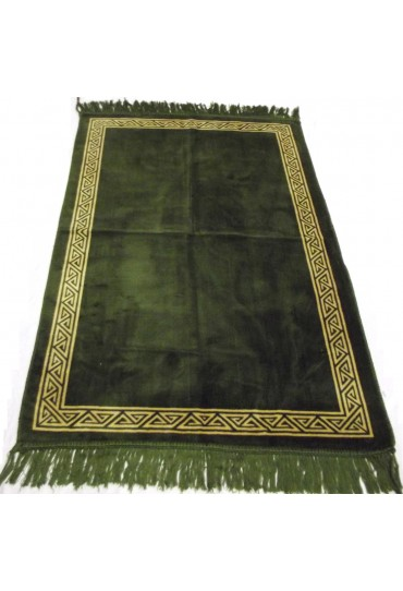 Plain Prayer Mat with Border; Green
