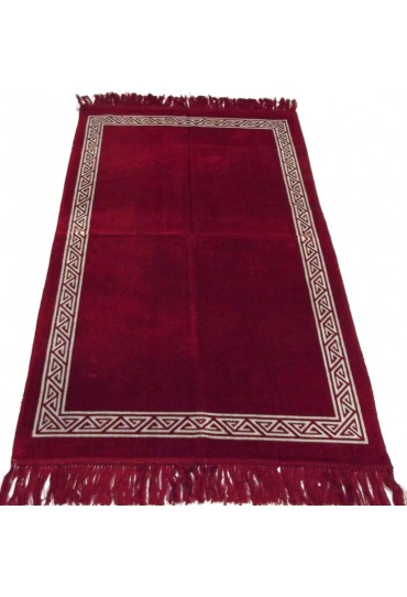 Plain Prayer Mat with Border; Red