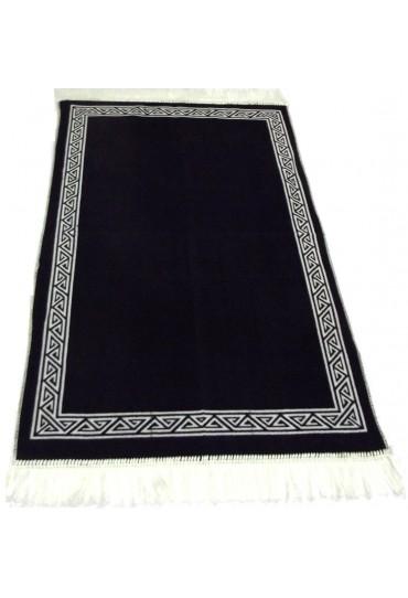 Plain Prayer Mat with Border; Black