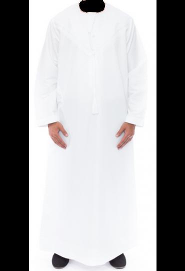 Emirati White Omani Jubba