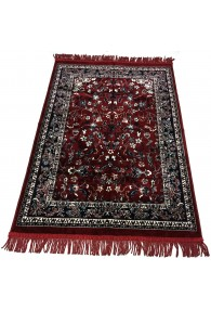 Haramain Inspired  Prayer Mat / Rug Carpet Red Makki Large