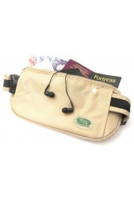 Anti-Theft Waist Bag and Ihram Belt Beige
