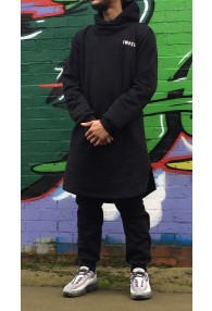 Black Cowl Neck Jubba | Thobe Set