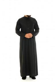 Saudi Collar Jubbah|Thobe Black